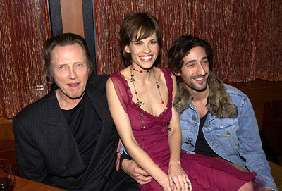 Premiere: Christopher Walken, Hilary Swank and Adrien Brody at the New York screening of The Affair of the Necklace - 11/27/2001