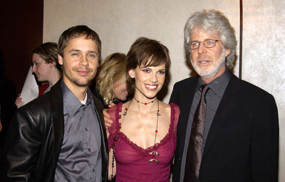 Premiere: Chad Lowe, Hilary Swank and Charles Shyer at the New York screening of The Affair of the Necklace - 11/27/2001