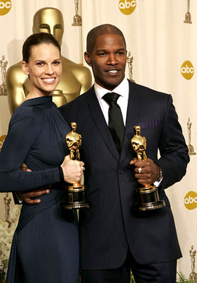 Jamie Foxx and Hilary Swank Best Actor - Ray Best Actress - Million Dollar Baby 77th Annual Academy Awards - Press Room Hollywood, CA - 2/27/05