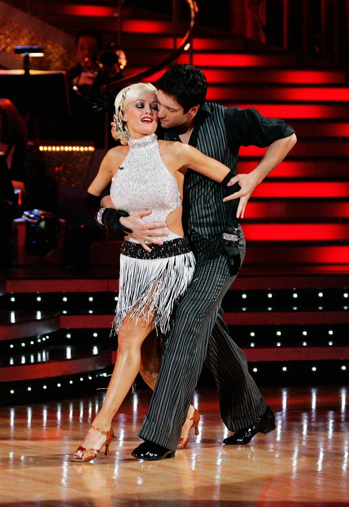 "Holly Madison and Dmitry Chaplin perform the Argentine Tango to ""Libertango"" by bond on ""Dancing with the Stars."""