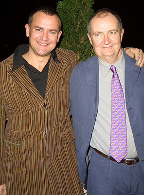 Premiere: Hugh Bonneville and Jim Broadbent at the New York premiere of Miramax's Iris - 12/2/2001