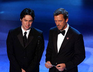 Zach Braff and Hugh Laurie Emmy Awards - 9/18/2005