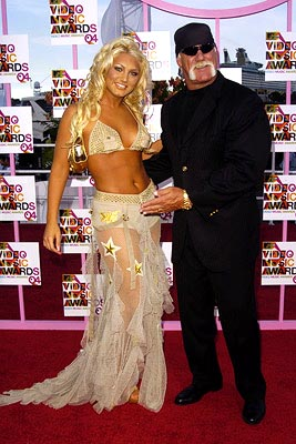 Brooke Hogan and father Hulk Hogan MTV Video Music Awards - 8/29/2004