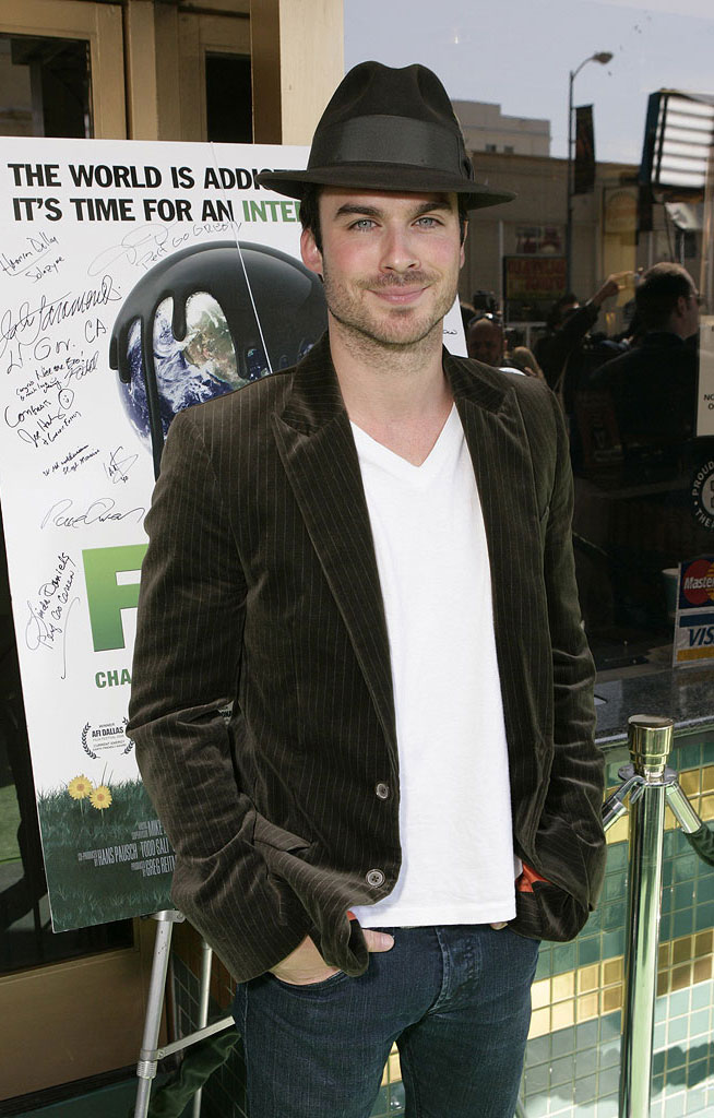 "Ian Somerhalder attends the ""Fuel"" Los Angeles Premiere at the Crest Theater on October 12, 2008 in Los Angeles, California."