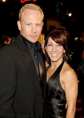 Premiere: Ian Ziering and guest at the Hollywood premiere of New Line Cinema's Domino - 10/11/2005