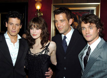 Premiere: Ioan Gruffudd, Keira Knightley, Clive Owen and Hugh Dancy at the New York premiere of Touchstone Pictures' King Arthur - 6/28/2004