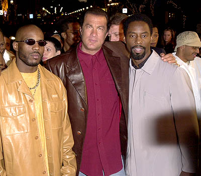 Premiere: DMX, Steven Seagal and Isaiah Washington at the Westwood premiere of Warner Brothers' Exit Wounds - 3/13/2001