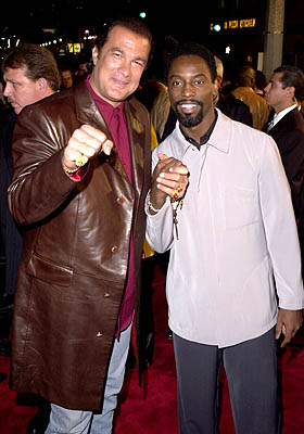 Premiere: Steven Seagal and Isaiah Washington at the Westwood premiere of Warner Brothers' Exit Wounds - 3/13/2001