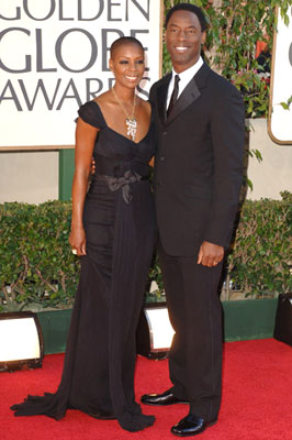Isaiah Washington with wife Jenisa 63rd Annual Golden Globe Awards - Arrivals Beverly Hills, CA - 1/16/05