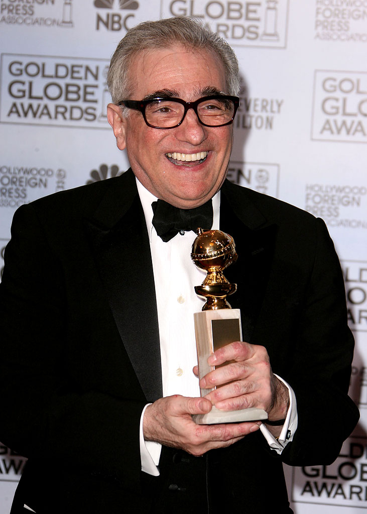 "Martin Scorsese, winner Best Director - Motion Picture for ""The Departed,"" at the 64th annual Golden Globe Awards."