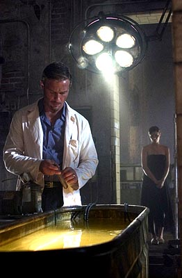 "Thomas Kretschmann as Victor Helios and Ivana Milicevic as Erika Helios USA Network's ""Frankenstein"""