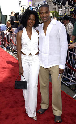 Premiere: Tangi Miller and J. August Richards at the LA premiere of 20th Century Fox's Star Wars: Episode II - Attack of the Clones - 5/12/2002