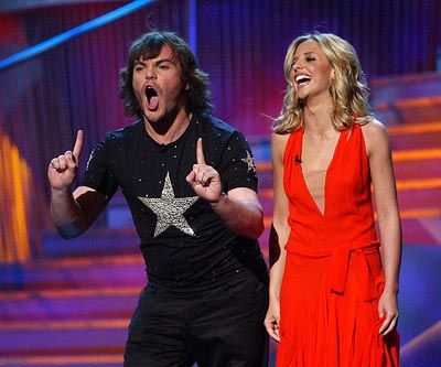 Hosts Jack Black and Sarah Michelle Gellar MTV Movie Awards 6/1/2002