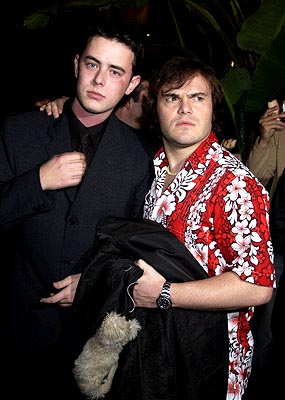 Premiere: Colin Hanks and Jack Black at the Hollywood premiere of Paramount's Orange County - 1/7/2002