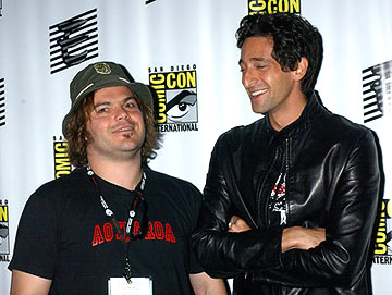 Jack Black and Adrien Brody of King Kong San Diego Comic-Con, 7/16/2005