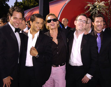 "Cast of ""Queer Eye For The Straight Guy"" Thom Filicia, Jai Rodriguez, Carson Kressley, Ted Allen, and Kyan Douglas 56th Annual Emmy Awards - 9/19/2004"