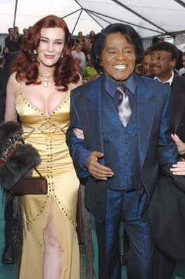 James Brown with Tommie Rae The 47th Annual GRAMMY Awards - Arrivals Staples Center - Los Angeles, CA - 2/13/05