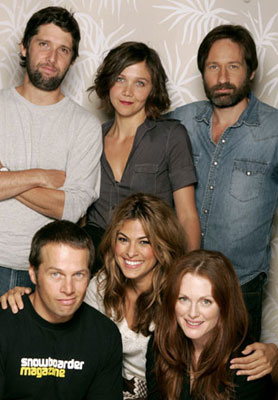 Director Bart Freundlich, Maggie Gyllenhaal, David Duchovny, James LeGros, Julianne Moore and Eva Mendes 2005 Toronto Film Festival - 'Trust the Man' Portraits