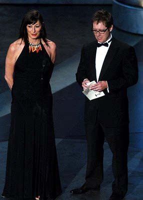 Anjelica Huston and James Spader Presenters for Outstanding Directing for a Miniseries, Movie or Dramatic Special Emmy Awards - 9/19/2004