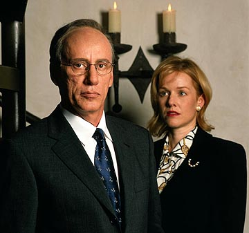 "James Woods as Rudy Giuliani and Penelope Ann Miller as Donna Hanover in USA Network's ""Rudy"""