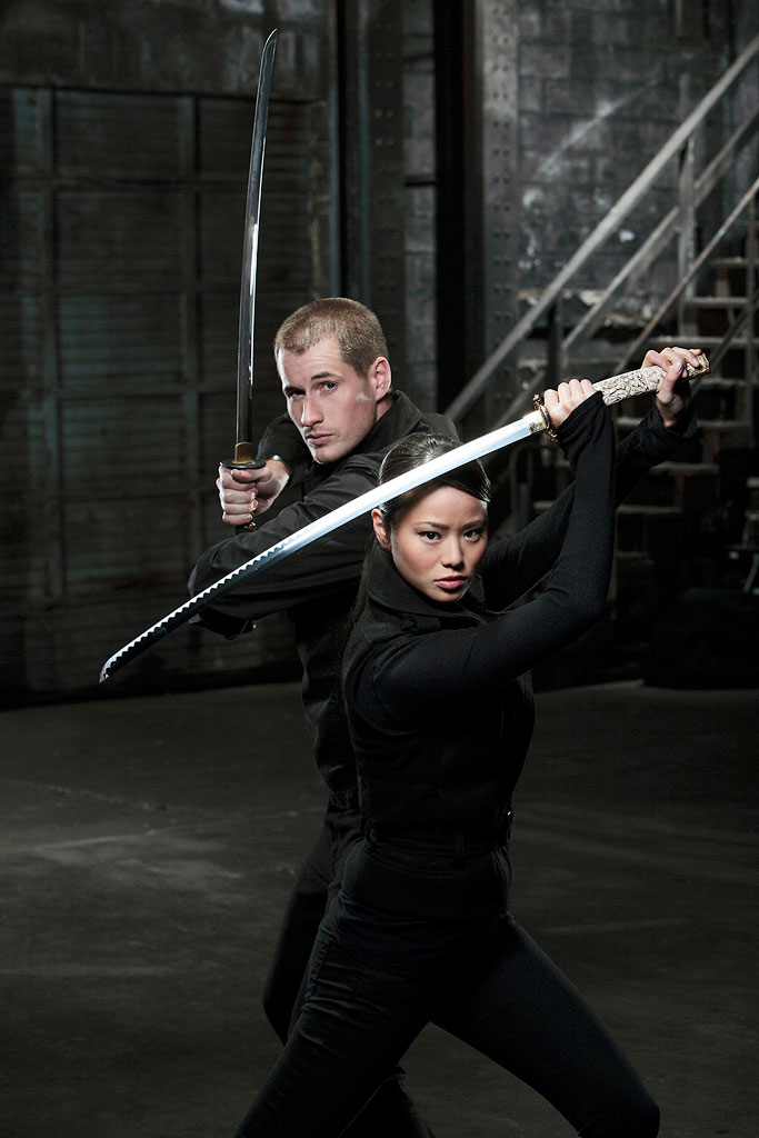 "Brendan Fehr as ""Jake"" and Jamie Chung as ""Heaven"" star in Samurai Girl."