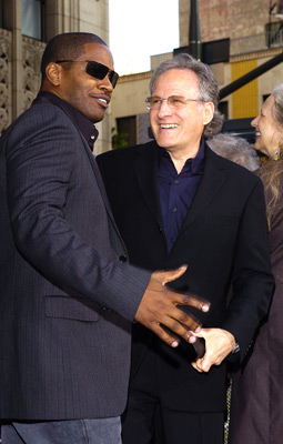 Premiere: Jamie Foxx and director Michael Mann at the LA premiere of Dreamworks SKG's Collateral -2004