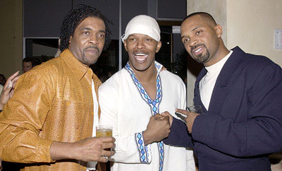 Premiere: Ron Lang, Jamie Foxx and Mike Epps at the LA premiere of All About The Benjamins - 3/6/2002