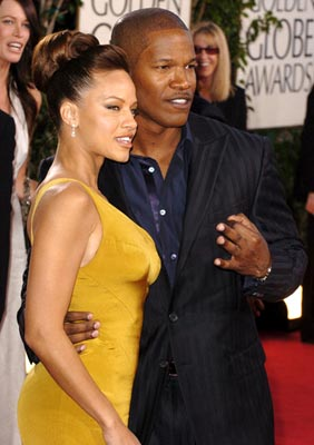 Leila Arcieri and Jamie Foxx 62nd Annual Golden Globe Awards - Arrivals Beverly Hills, CA - 1/16/05