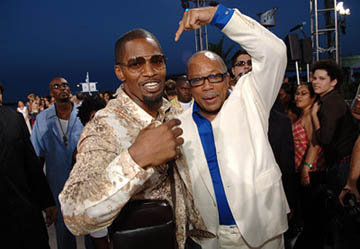 Jamie Foxx and Quincy Jones MTV Video Music Awards Arrivals - 8/28/2005