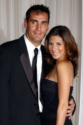 Jamie-Lynn Discala with husband A.J. 2004 Hollywood Film Awards Bevery Hills, CA - 10/18/2004 Jamie-Lynn Sigler
