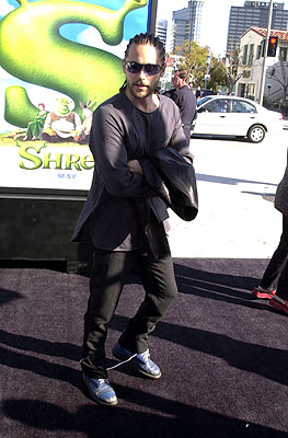 Premiere: Jared Leto at the Westwood, CA premiere of DreamWorks Pictures' Shrek - 4/22/2001