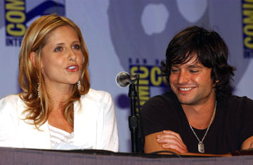 Sarah Michelle Gellar and Jason Behr The Grudge panel 2004 San Diego Comic-Con International - 7/24/2004