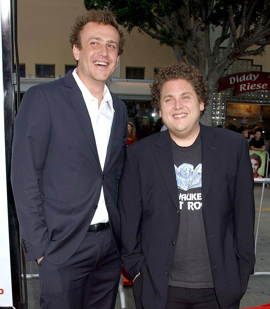 "Jason Segel  and Jonah Hill at the ""Knocked Up"" Los Angeles Premiere. - May 21, 2007"