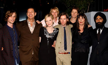 Premiere: Matthew Gray Gubler, Jeff Goldblum, Cate Blanchett, Owen Wilson, director Wes Anderson, Willem Dafoe, Angelica Huston and Warus Ahluwala at the Los Angeles screening of Touchstone Pictures' The Life Aquatic with Steve Zissou - 11/20/2004