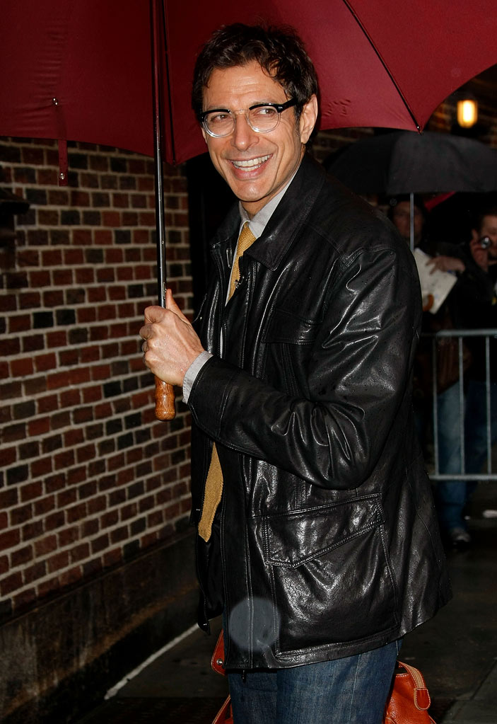 "Jeff Goldblum visits ""Late Show with David Letterman"" at the Ed Sullivan Theater on April 20, 2009 in New York City."
