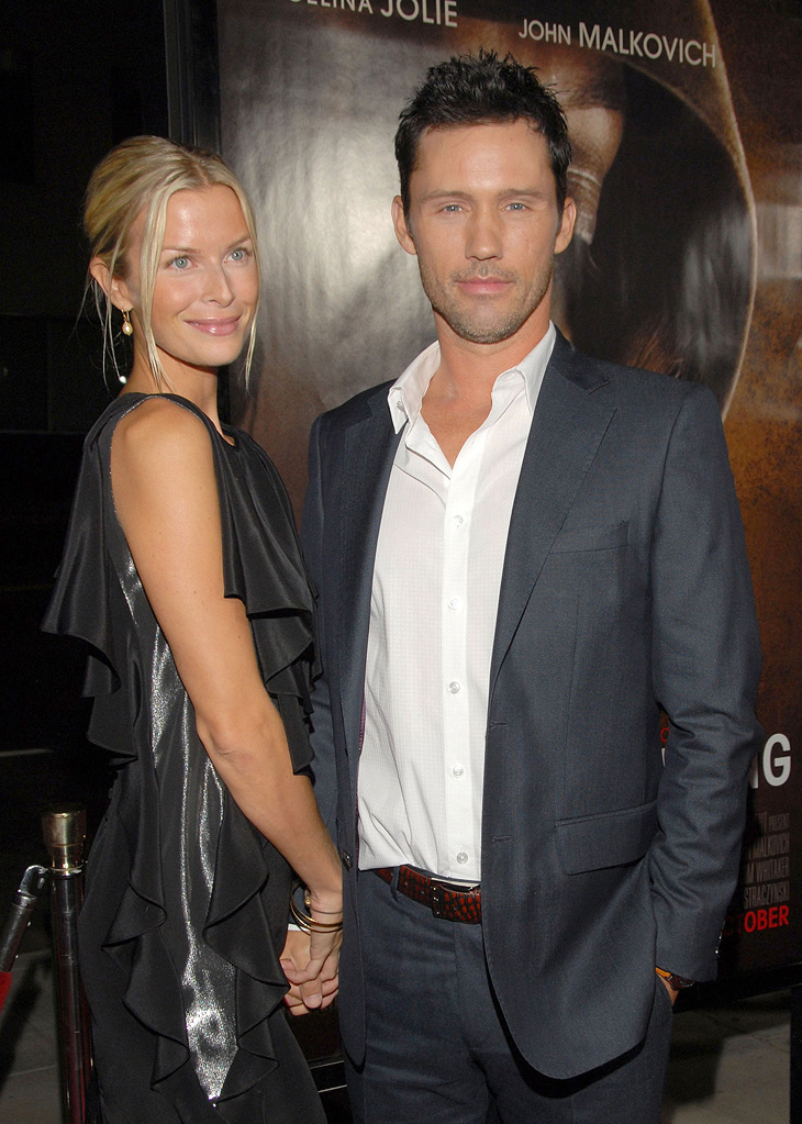"Jeffrey Donovan and Katherine Kovarik attend the Los Angeles premiere of ""Changeling"" on October 23, 2008"