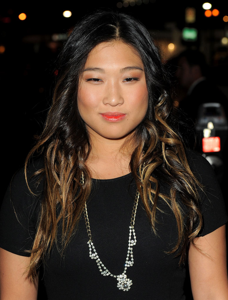 "Jenna Ushkowitz arrives at the premiere of FX's ""American Horror Story"" at the ArcLight Cinemas Cinerama Dome on October 3, 2011 in Hollywood, California."