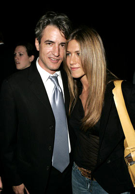 Premiere: Dermot Mulroney and Jennifer Aniston at the Los Angeles special screening of ThinkFilm's Going Upriver: The Long War of John Kerry - 10/13/04