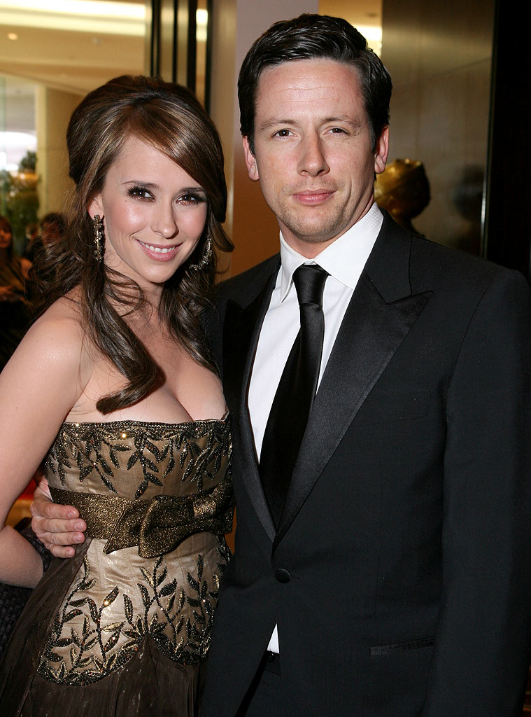 Jennifer Love Hewitt and Ross McCall at the 64th Annual Golden Globe Awards Moet & Chandon Inside Ballroom.