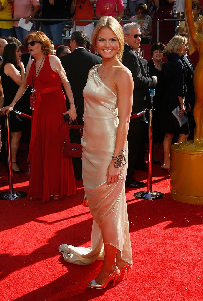 "Jennifer Morrison (""House M.D."") on the red carpet at the 60th Annual Primetime Emmy Awards."