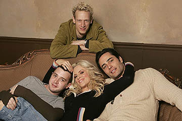 John Asher overlooks Eddie Kaye Thomas, Jenny McCarthy and Victor Webster of Dirty Love Sundance Film Festival - 1/22/2005