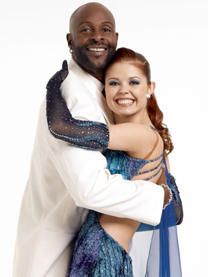 Jerry Rice and partner Anna Trebunskaya ABC's Dancing With the Stars