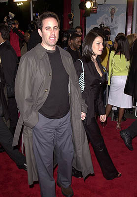 Premiere: Jerry Seinfeld and his wife Jessica at the Hollywood premiere of Paramount's Down To Earth - 2/12/2001