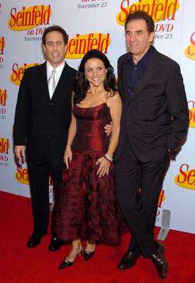 Jerry Seinfeld, Julia Louis-Dreyfus and Michael Richards 'Seinfeld' DVD Release Party New York City - 11/17/04