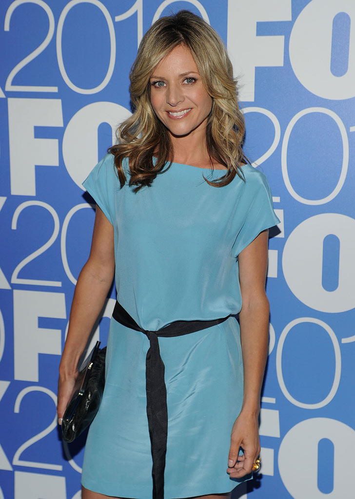 "Jessalyn Gilsig (""Glee"") attends the 2010 Fox Upfront after party at Wollman Rink, Central Park on May 17, 2010 in New York City."