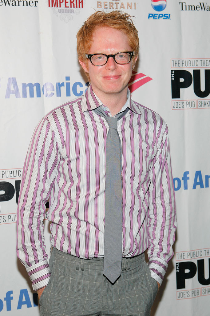 "Jesse Tyler Ferguson arrives at the post-performance party for the opening night of ""A Midsummer Night's Dream"" at the Belvedere Castle on August 23, 2007 in New York, New York."