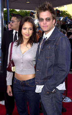 Premiere: Jessica Alba and Michael Weatherly at the Westwood premiere of Paramount's Lara Croft: Tomb Raider - 6/11/2001