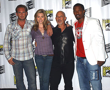 Josh Lucas, Jessica Biel, Rob Cohen and Jamie Foxx of Stealth San Diego Comic-Con, 7/16/2005