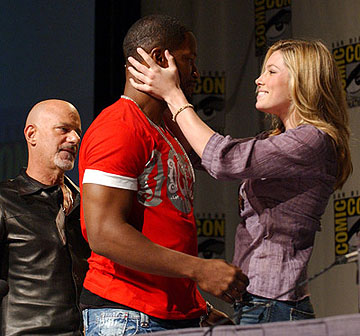 Rob Cohen, Jamie Foxx and Jessica Biel of Stealth San Diego Comic-Con, 7/16/2005