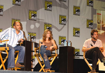 Writer/director David S. Goyer, Jessica Biel and Ryan Reynolds Blade: Trinity panel 2004 San Diego Comic-Con International - 7/23/2004